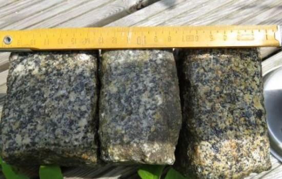 Abmessung der gebrauchten  Granit Pflastersteine